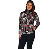 Susan Graver Weekend Printed French Terry Zip Front Jacket - A279788