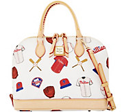 Dooney & Bourke MLB Phillies Zip Zip Satchel - A280088