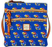 Dooney & Bourke NCAA University of Kansas Zip Crossbody - A283488
