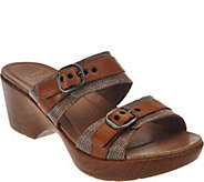 As Is Dansko Leather Double Strap Sandals with Buckles - Jessie - A286488