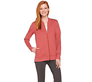 LOGO Lounge by Lori Goldstein Zip Front Hi-Low Jacket - A286988