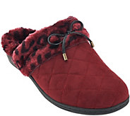 As Is Vionic Orthotic Quilted Slippers w/Bow Detail-Pleasant - A290088