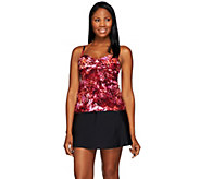 As Is St. Tropez Modern Pop Fly Away Tankini Swimsuit - A297588