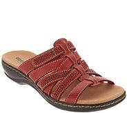 Clarks Leather Lightweight Adjustable Slides - Leisa Field - A304288