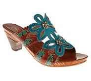 Spring Step Carlina Leather Slide Sandals - A323288