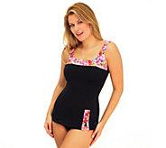 Fit 4 U Cs Bright Spot Retro Sheath Swimsuit - A332188