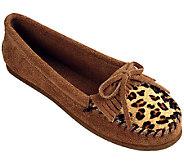 Minnetonka Suede leather Moccasins -Leopard Kilty - A332788
