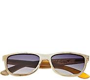 Bertha Olivia Buffalo-Horn Sunglasses w/ Polarized Lens, Cream - A361188