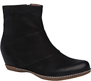 Dansko Hidden Wedge Leather Ankle Boots - Lettie - A362088