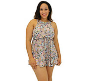 Fit 4 Ur Thighs Freebird Microfiber High-Neck B abydoll Dress - A364788