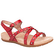Dansko Open-Toe Strappy Leather Sandals - Brigitte - A412388