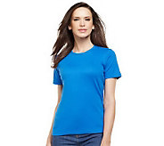 Liz Claiborne New York Essentials Short Sleeve Crew Neck Tee - A214289