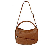 Dan Azan Pebble Leather Hobo with Stud Accents - A219789