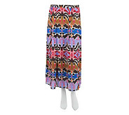 Linea by Louis DellOlio Ikat Print Fully Lined Pull-On Skirt - A233189