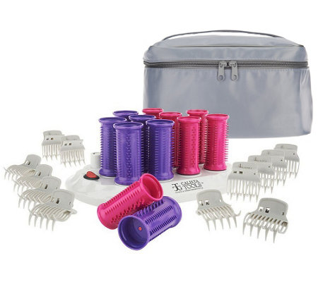 Calista Set of 12 Ion Hot Rollers with Clips & Travel Bag