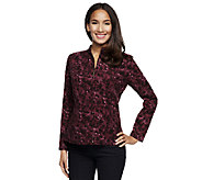 Susan Graver Corduroy Printed Zip Front Jacket w/ Pockets - A237689