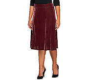 Quacker Factory Velvet Pull-on A-line Skirt - A237789