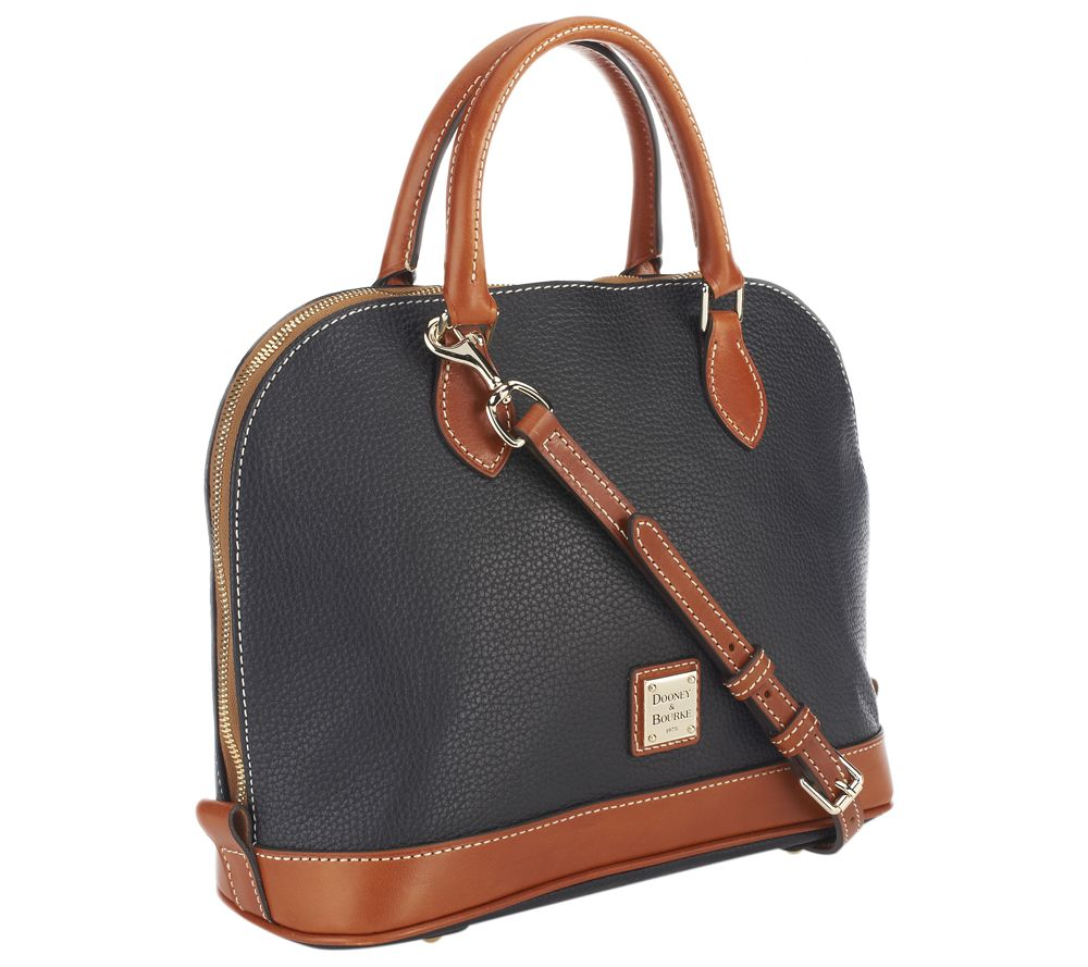 8c4e0006e44d ... brand bags with high prices Dooney Bourke Pebble Leather Zip Zip  Satchel - Page 1 — QVC MICHAEL Michael Kors ...