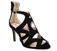 As Is G.I.L.I Seville Suede Pumps with Cut-out Detail - A258889