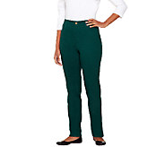 Denim & Co. How Classic 5-Pocket Straight Leg Pants - A260389