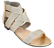 Sole Society Stretch Criss Cross Strap Sandals - Aggie - A263889