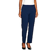 As Is Susan Graver Regular Chelsea Stretch Pants with Pockets - A264289