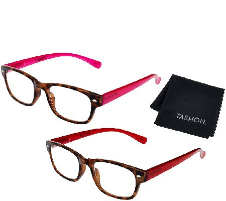 Tashon Progressive Translucent Temple Readers Set of 2