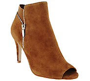 Marc Fisher Suede or Leather Peep Toe Boots - Serenity - A266089