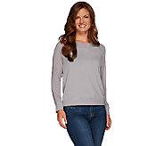 Lisa Rinna Collection Sweatshirt with Sheer Long Sleeves - A267489