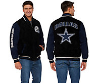 NFL Dallas Suede Zipper Front Jacket - A268289