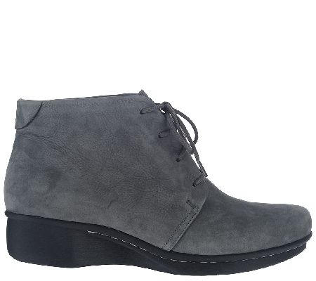 - Dansko Stain Resistant Lace-up Ankle Boots -Lucille - Page 1 — QVC.com
