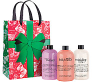 philosophy magic of christmas shower gel trio w/ holiday bag - A271989