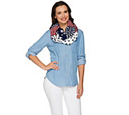 Joan Rivers Patriotic Stars & Stripes Infinity Scarf - A274889