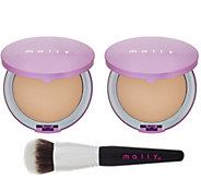 Mally Supersize Poreless Foundation Duo w/ Brush - A281989