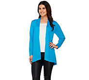 As Is Susan Graver Open Front Long Sleeve Cardigan Sweater - A282189