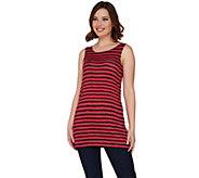 As Is LOGO Layers by Lori Goldstein Striped Knit Tank - A284489