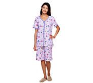 As Is Carole Hochman Under the Sea Cotton 3 pc. Pajama Set - A285289