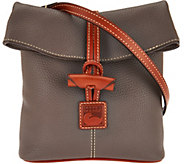 As Is Dooney & Bourke Pebble Leather Toggle Crossbody - A295789
