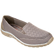 As Is Skechers Relaxed Fit Mesh Slip-ons- Earth Fest Wil. - A297489
