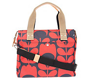 Orla Kiely Coated Canvas Zip Top Messenger - A305789
