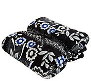 As Is Vera Bradley Signature Print 50x 80 Micro- Fleece Blanket - A309189