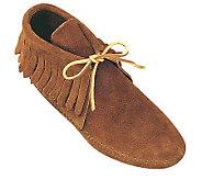 Minnetonka Mens Classic Fringe Softsole Boots - A320289