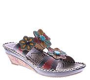Spring Step LArtiste Leather Wedge Sandals -Edrea - A336489