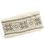 MUK LUKS Womens Snowflake Nordic Headband - A337589