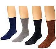 MUK LUKS Mens 4-Pair Aloe Sock Pack - A338089
