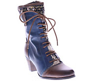 Spring Step LArtiste Leather and Textile Boots- Quintus - A338189