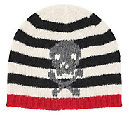 San Diego Hat Co Kids Stripe Hat with Skull - A204490