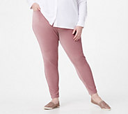 Denim & Co. Pull On Stretch Knit Cord Leggings - A227290