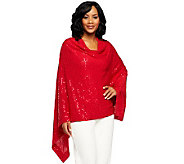 Joan Rivers Cape Style Sequined Pullover Top - A231990