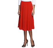 Joan Rivers Luxe Knit Fluted Pull-on Skirt - A252090